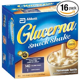 Glucerna snack shake, homemade vanilla (pack of 16)