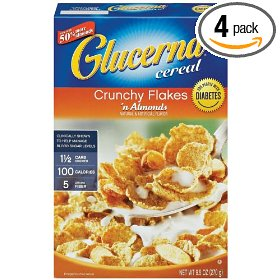 Glucerna crunchy flakes n raisins cereal, 11.1-ounce box (pack of 4)