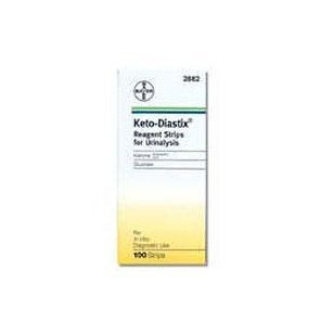 Keto-diastix reagent strips for urinalysis, tests for urine,glucose, and ketone, 100