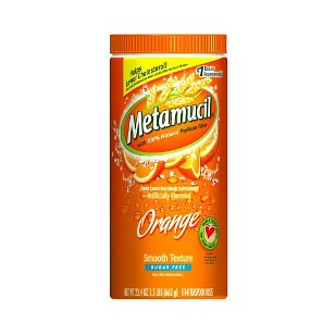 Metamucil psyllium fiber smooth texture powder canister