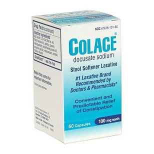 Colace stool softener docusate sodium, 60-count capsules