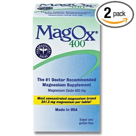 Blaine magox 400  magnesium supplement tablets, 400 mg, 120-count bottles (pack of 2)