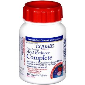 Equate - acid reducer complete 25 chewable tablets, berry flavor, compare to pepcid complete