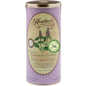 Heather's tummy tea peppermint tea bags for irritable bowel syndrome ~ heather's tummy teas organic peppermint teabags (36 jumbo teabags)