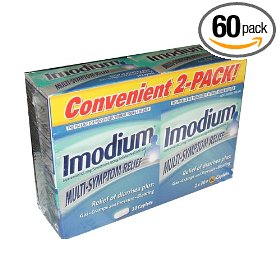 Imodium multi-symptom- relief of diarrhea, gas, cramps, pressure, bloating, 60 caplets