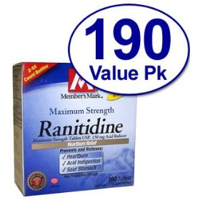 Member's mark - ranitidine , acid reducer 150 mg 190 tablet count - compare to zantac 150