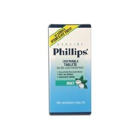Phillips milk of magnesia tablets mint - 100