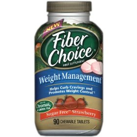 Fiberchoice weight management sugar free chewable tablets with strawberry - 90 ea