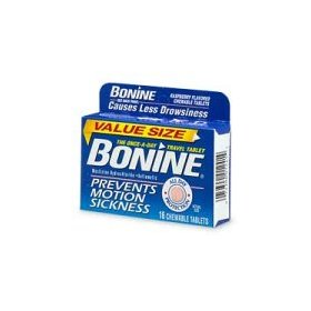 Bonine motion sickness protection, raspberry flavored chewable tablets - 16 count