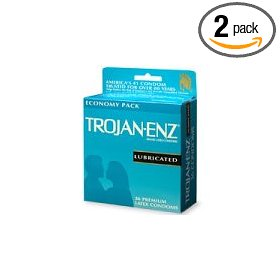Trojan-enz latex condoms, premium lubricant, 36-count boxes (pack of 2)