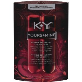 K-y yours + mine kissable sensations strawberry + chocolate, 3-fluid ounce