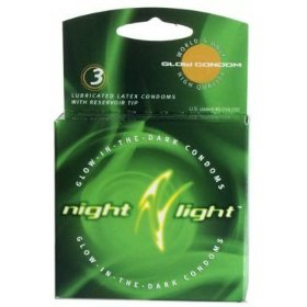 Global protection night light glow in the dark: 3-pack of condoms
