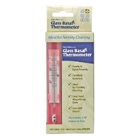 Non-mercury glass basal thermometer