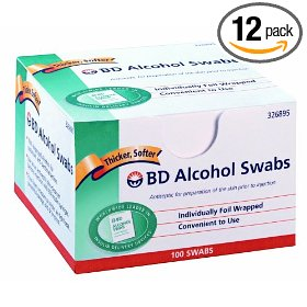 Bd alcohol swab 100 units,  12-count