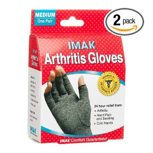 Imak  arthritis gloves medium (pack of 2)