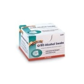 Bd alcohol swabs thicker, softer, 100 individually foil wrapped