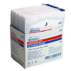 Kendall curity versalon absorbent gauze sponge 4'' x 4'' sterile packed 25 packets of 2