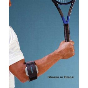Aircast tennis elbow support - beige pneumatic armband - one size fits most