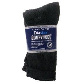 Diastar comfy feet diabetic socks, 3-pack