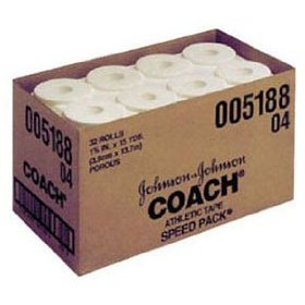 Johnson and johnson consumer coach porous athletic tape 1 1/2