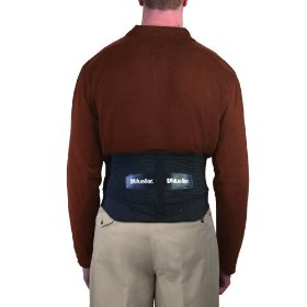 Mueller adjustable lumbar back brace, black, extended, 1-count package