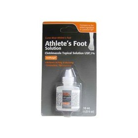 Clotrimazole, af antifungal athletes foot topical solution 1% (generic lotrimin) - 10 ml
