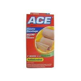 Ace elastic bandage velcro, antimicrobial, model no : 7604 - 4 inches