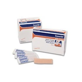 Coverlet latex-free adhesive dressings strips - 1 inch x 3 inches,100 / box