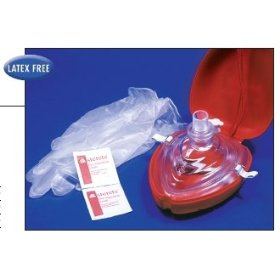 Ambu cpr pocket rescue mask w/ o2 inlet