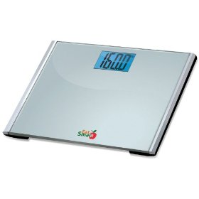 Eatsmart precision plus digital bathroom scale with ultra wide platform and step-on technology, 440-pounds