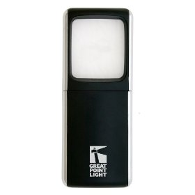 Lightwedge lighted pocket magnifier, black