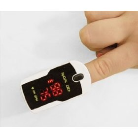 Finger pulse oximeter 300c12 with carry case and neck/wrist cord