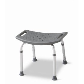 Medline bath bench without back, gray