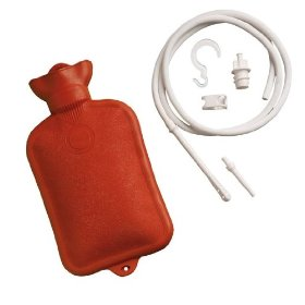 Mabis dmi healthcare combination douche and enemasystem with water bottle, red, one