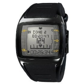 Polar ft60 men's heart rate monitor watch (black with white display)