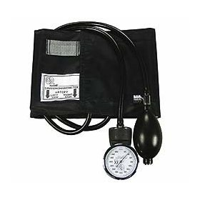 Professional blood pressure set with black cuff for adults