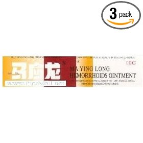 Mayinglong musk hemorrhoids ointment cream value pack - 3x 10 grams