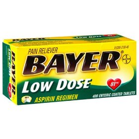 Bayer low dose 81 mg aspirin regimen -400 tablets