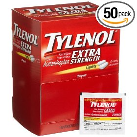 Tylenol(r) extra-strength, 2-caplet dosage, box of 50