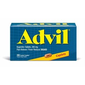 Advil ibuprofen, 200 mg, coated caplets 200 coated caplets