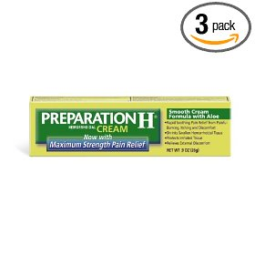 Preparation h cream maximum strength, 0.9-ounce boxes (pack of 3)