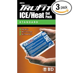 Tru-fit ice/heat gel pack blue one size fits all (pack of 3)