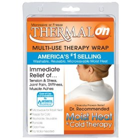 Thermalon microwave activated moist heat-cold compress wrap for back, neck, shoulder, head, abdomen, 5.5