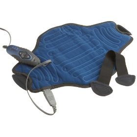 Sunbeam flexible heating pad with 5 heat settings and 2 hour auto-off, blue