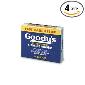 Goody's headache powders, extra strength, 50-count boxes (pack of 4)