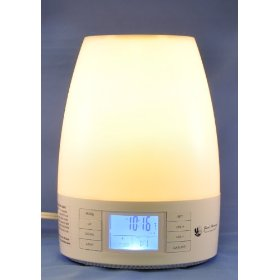 Good morning (tm) sunrise wake-up light alarm clock with nature sounds (with halogen light bulb)