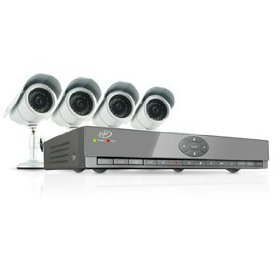 Svat cv502-4ch-002 web ready 4 channel h.264 500gb hdd dvr security system with smart phone access and 4 indoor/outdoor hi-res night vision ccd surveillance cameras