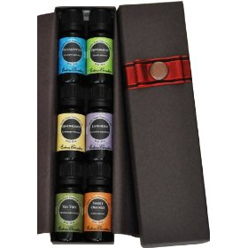 Top 6 100% pure therapeutic grade basic sampler essential oil gift set- 6/10 ml (eucalyptus, lavender, lemongrass, orange, peppermint, tea tree)