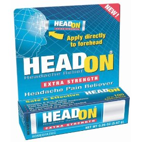 Headon - apply directly to forehead extra strength headache relief .2 oz (5.67 g)
