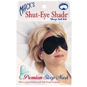Mack's shut-eye shade sleep aid kit - premium sleep mask & safe sound foam earplugs